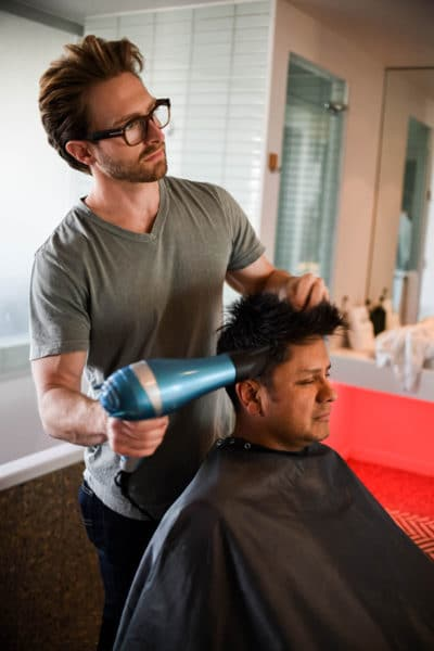 men's haircut and hair stylist