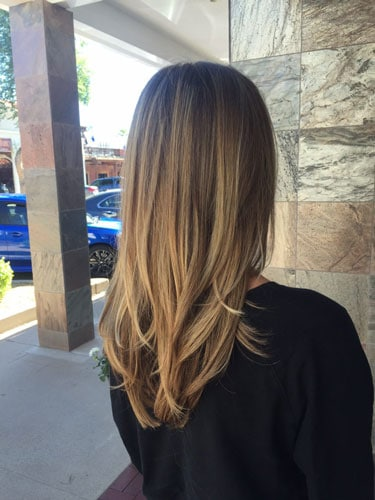 women's hair balayage shadow