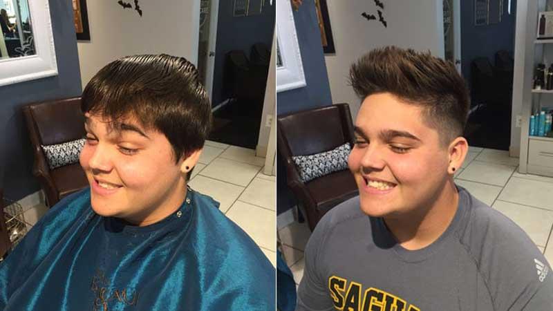 Teen guy haircut scottsdale