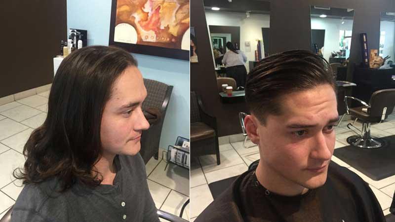 Mens hair drastic cut scottsdale