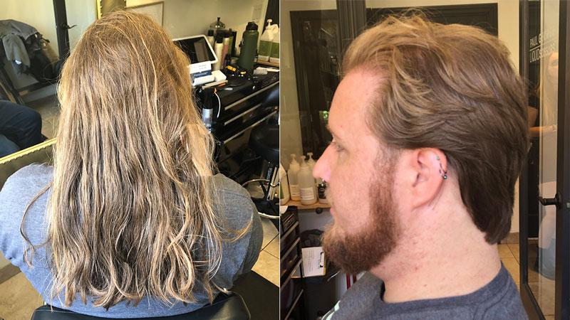 Men's Hair Transformation Long To Short